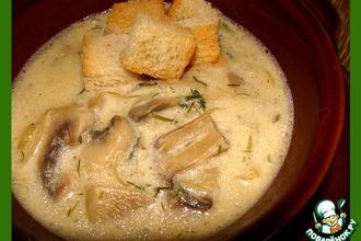 Рецепт: Бархатный грибной суп