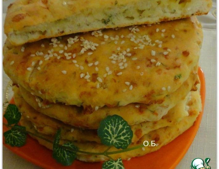 Рецепт: Сырные лепешки с курицей