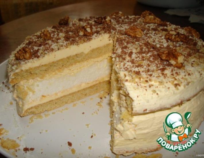 Рецепт: Торт «Первый поцелуй»