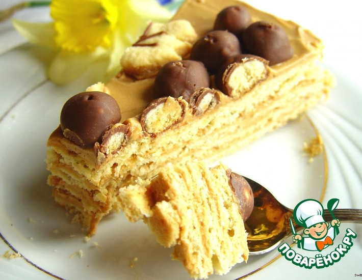 Рецепт: Простой песочный торт