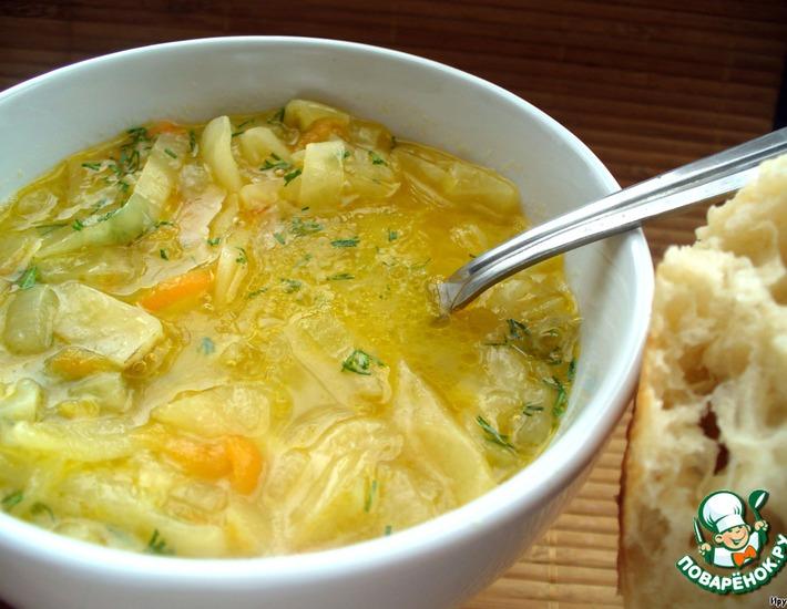 Рецепт: Луковый суп с капустой и лимоном