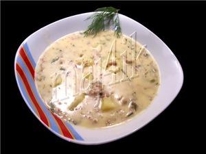 Суп сливочно-сырный с фаршем