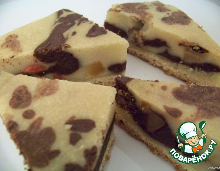 Рецепт: Мраморное пирожное «Олмора»