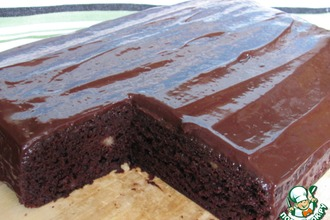 Рецепт: Шоколадно-банановый пирог