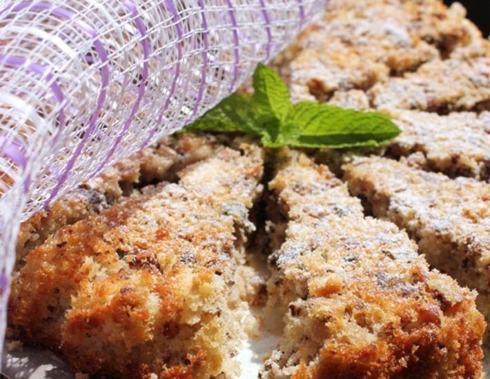 Рецепт: Ореховый пирог За 5 минут