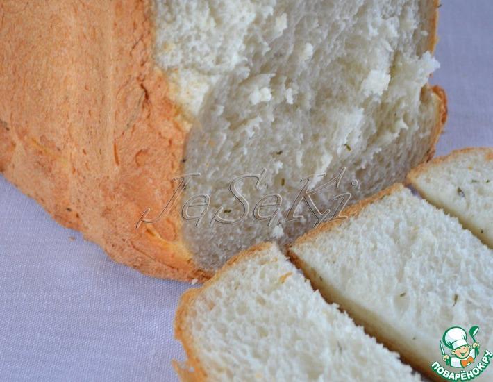 Рецепт: Кефирный хлеб с сушеной петрушкой