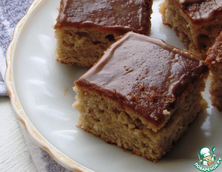 Рецепт: Ореховые квадратики с глазурью