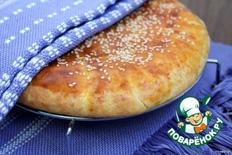 Рецепт: Лепешка из творожного теста с сыром