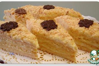 Рецепт: Пирожное Детство с творожным суфле