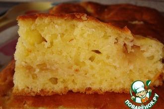 Рецепт: Сметанный пирог с тeртыми яблоками