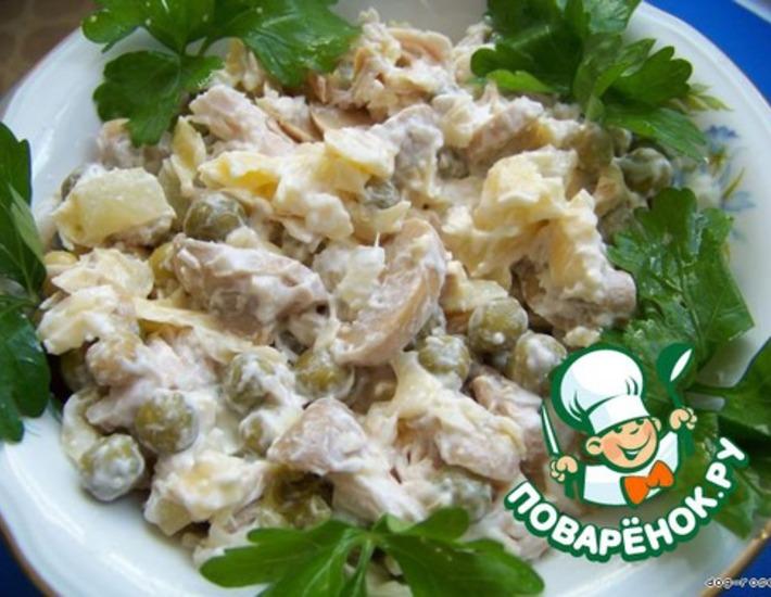 Рецепт: Салат Пина-Колада