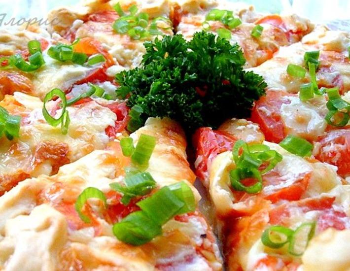 Рецепт: Киш с томатами и брынзой