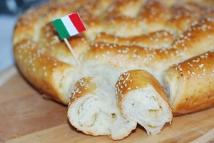Bread with Parmesan and Italian herbs
