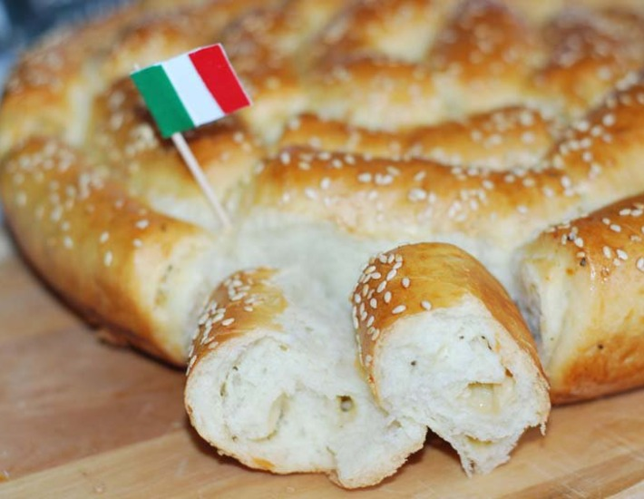 Рецепт: Хлеб с пармезаном и итальянскими травами