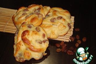 Рецепт: Сладкие ленивые булочки с заварным кремом