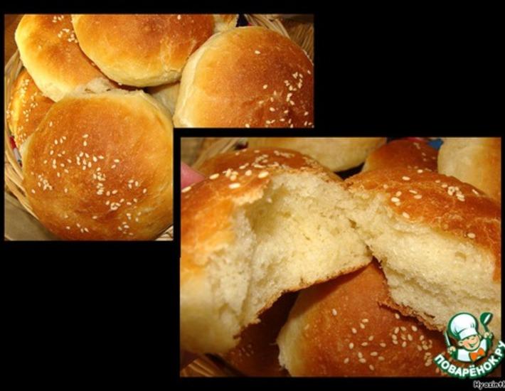 Рецепт: Кефирные булочки