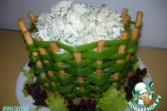 Рецепт: Луковая корзинка с картофельным салатом