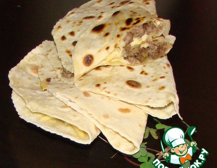 Рецепт: Лепешки с сыром