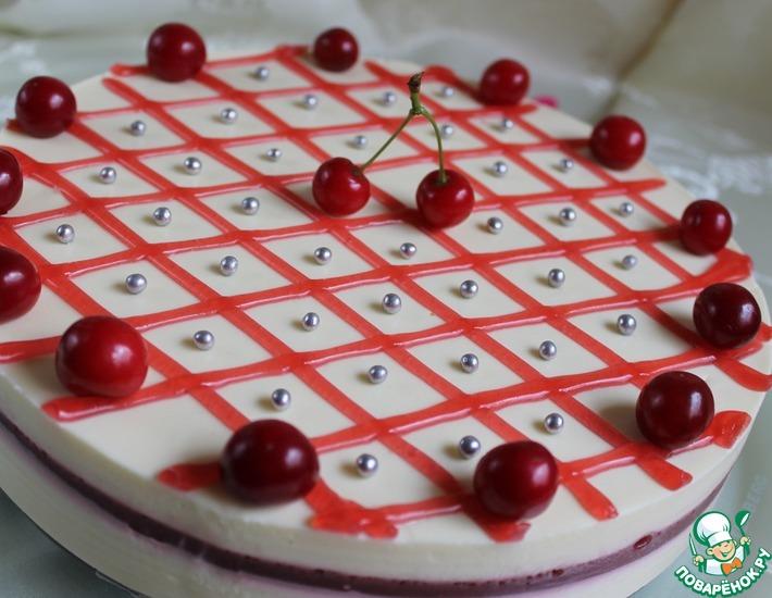Рецепт: Ягодно-творожный торт
