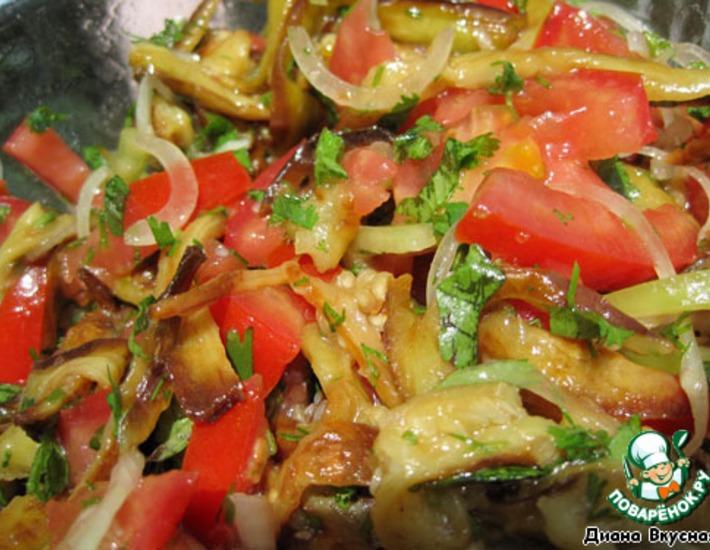 Рецепт: Салат баклажановый
