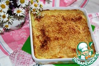 Рецепт: Картофельное пюре, запеченное с чесноком и сыром