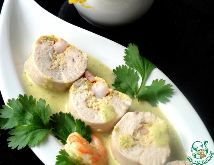 Рецепт: Куриная грудка с фисташковым соусом
