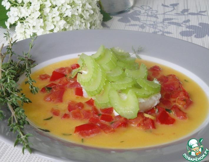 Рецепт: Рыба с сельдереем и томатным соусом
