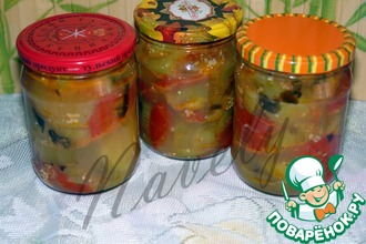 Рецепт: Баклажаны с базиликом на зиму
