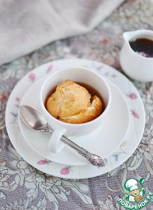 Рецепт Заварные булочки с кофейно-ванильным соусом-карамель
