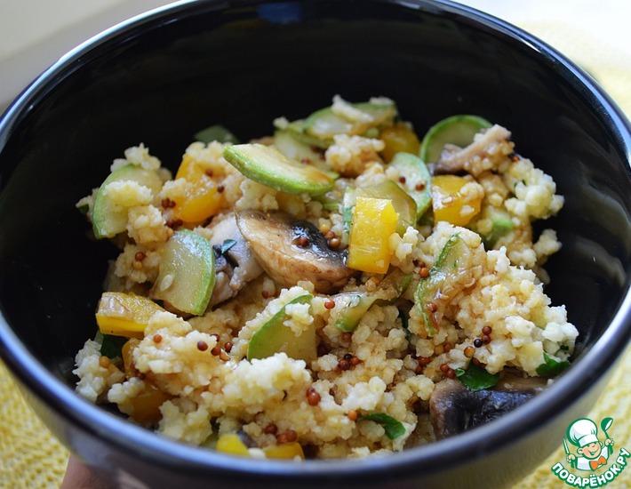 Рецепт: Теплый салат с пшеном