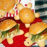 Булочки для сэндвичей Черепашки