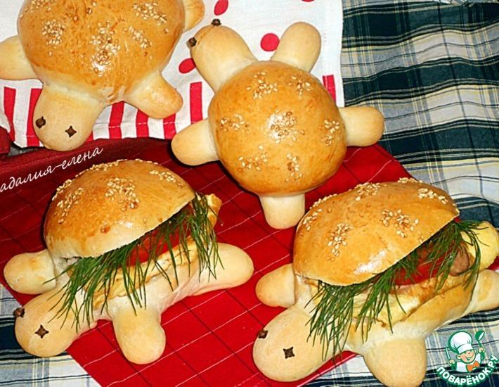 Рецепт: Булочки для сэндвичей Черепашки