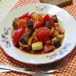 Салат из помидоров с хлебом