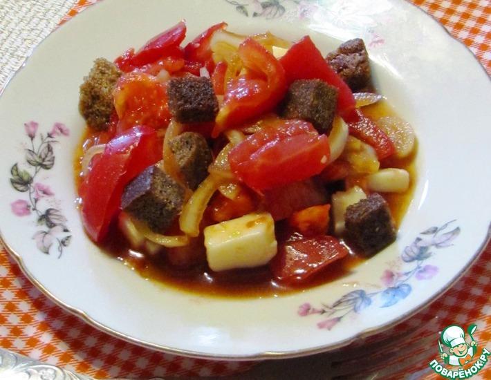 Рецепт: Салат из помидоров с хлебом