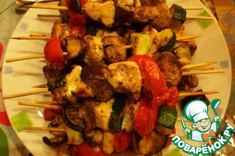Рецепт: Овощи на шпажках а-ля Сатэ