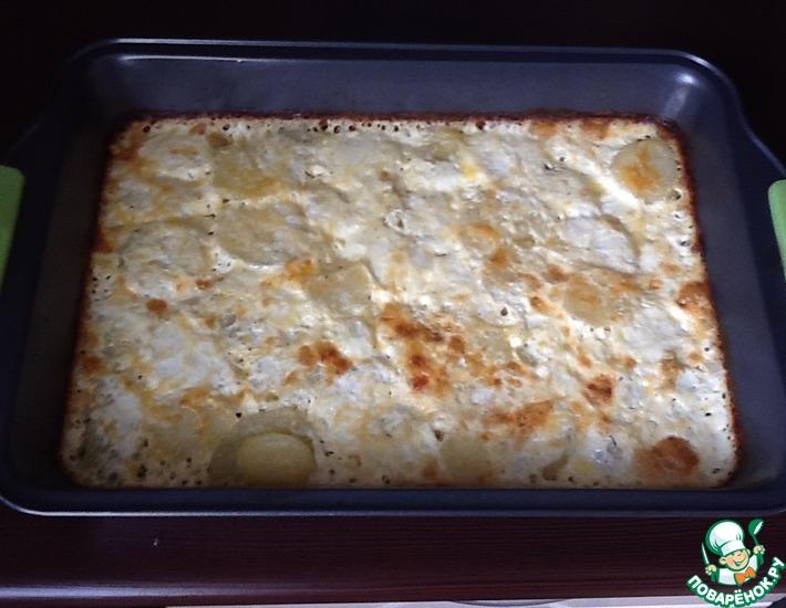 Рецепт: Картофель, запеченный с молоком и сыром