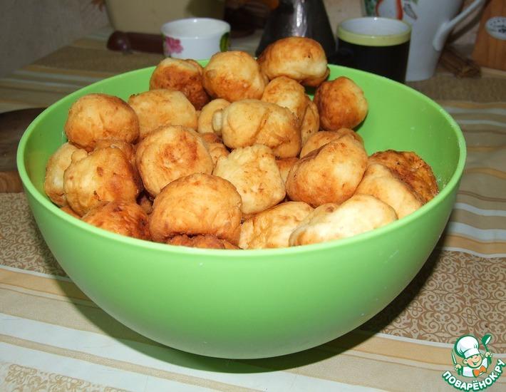 Рецепт: Пончики из старого творога
