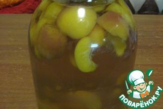 Рецепт: Компот из персиков на зиму