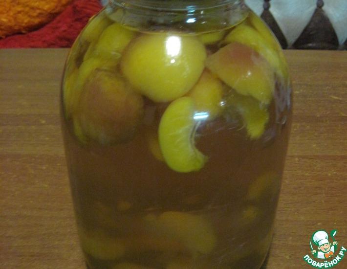 Компот из персиков на зиму – кулинарный рецепт