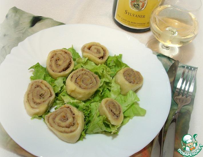 Рецепт: Лапша по-эльзасски фляйшнака (fleischschnacka)
