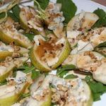 Салат из груши с заправкой Винегрет