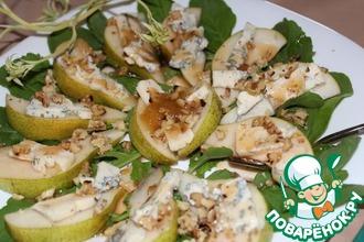 Рецепт: Салат из груши с заправкой Винегрет