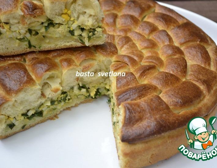 Рецепт: Оригинальный пирог с классической начинкой