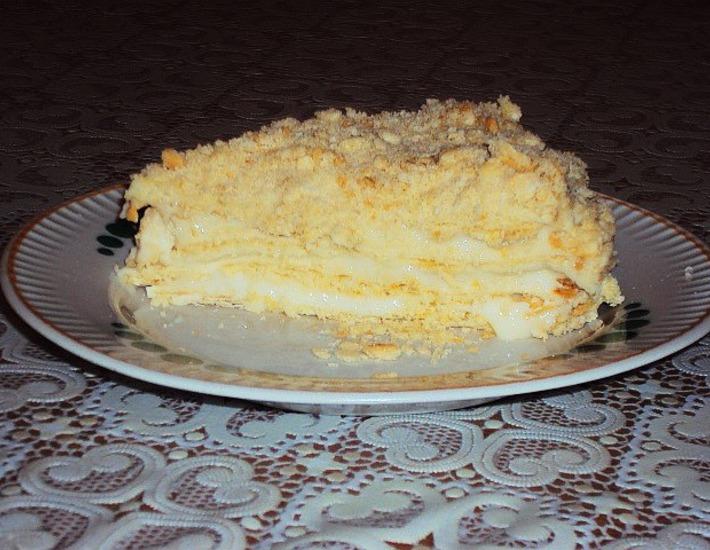 Рецепт: Слоеный торт Золушка
