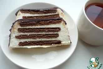 """Рецепт: Тортик без выпечки """"Полосатый"""""""