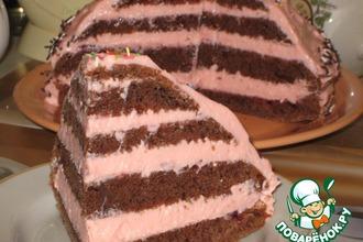 Рецепт: Торт с творожно-зефирным кремом