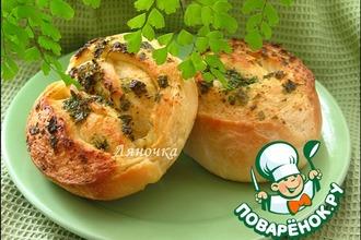 Рецепт: Булочки с маслом и зеленью