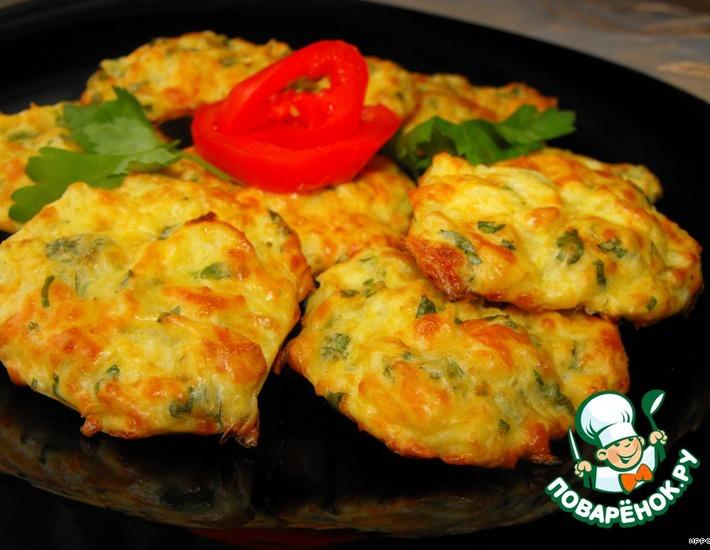 Рецепт: Капустные оладьи с сыром