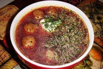 Рецепт: Латышский суп с фрикадельками Виенс, диви, трис!