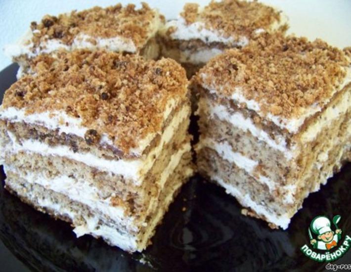 Рецепт: Торт «Мраморный»